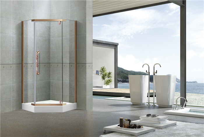 Stainless Steel Pivot Shower Doors  Tempered Glass Nano Self - Cleaning Swing for Home