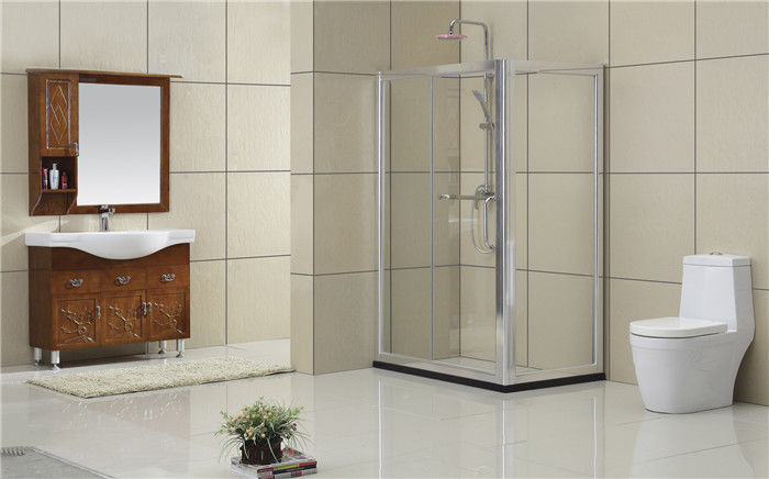 6MM Clear Tempered Glass Square Shower Partition Self - Cleaning Full Aluminum Alloy