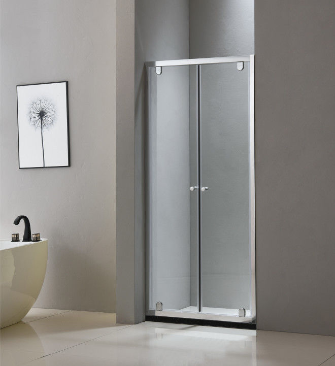 Pivot shower doors 900*1900mm with 6463 aluminium profile and tempered glass